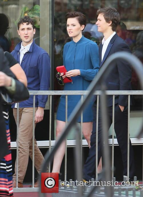 Veronica Roth, Ansel Elgort and Miles Teller 3