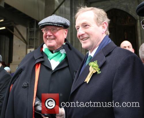 Cardinal Timothy Dolan and Taoiseach Enda Kenny 4