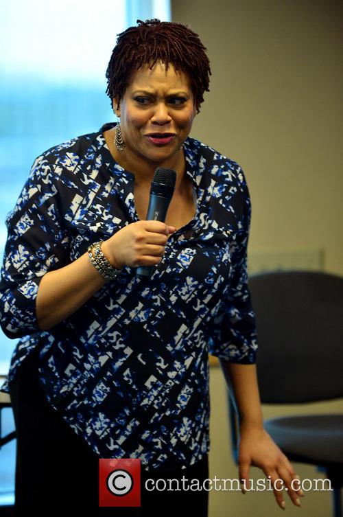 Kim Coles speaks at Broward College in Florida