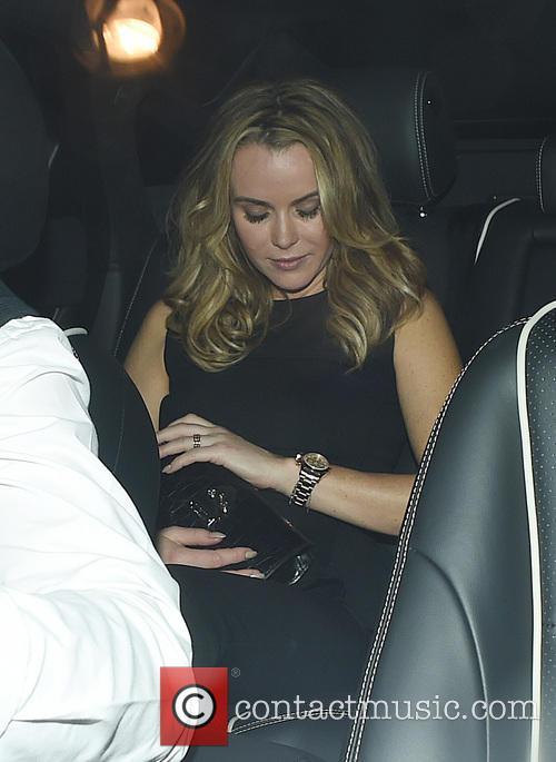 Celebrities leaving Balthazar Restaurant in Covent Garden