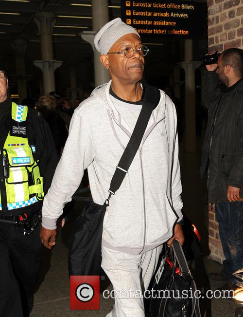 Samuel L Jackson arrives on Eurostar