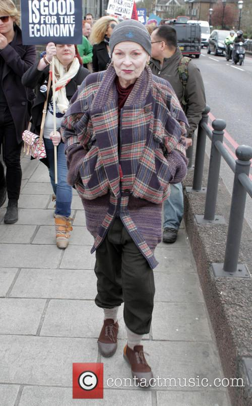 Vivienne Westwood attends the Fracked Future Carnival