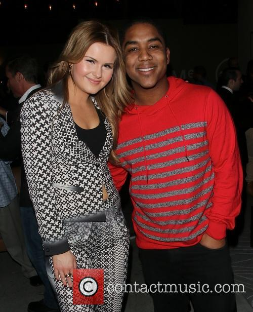 Ashlee Keating and Kyle Massey at a private...