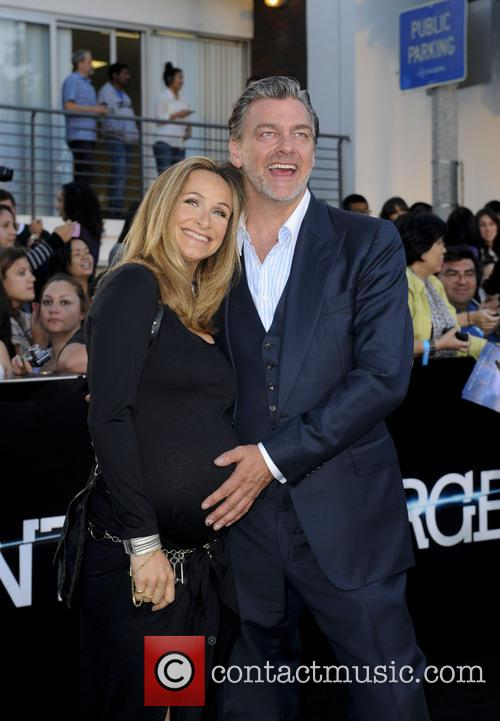 Ray Stevenson and Wife