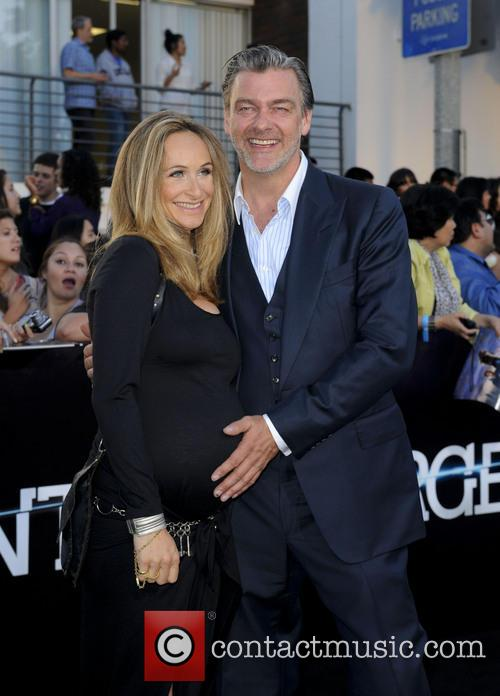 Ray Stevenson and Wife 3