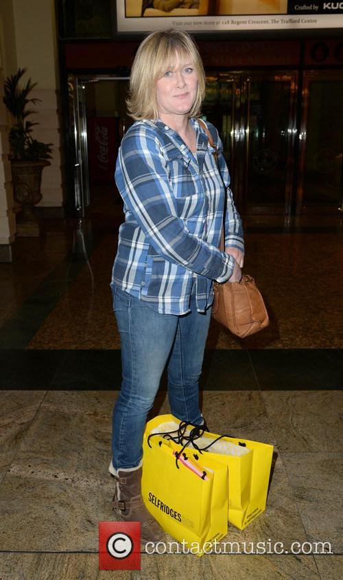 Sarah Lancashire Shopping In Manchester
