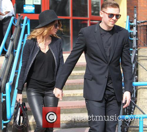 Professor Green leaving Bromley Magistrates court