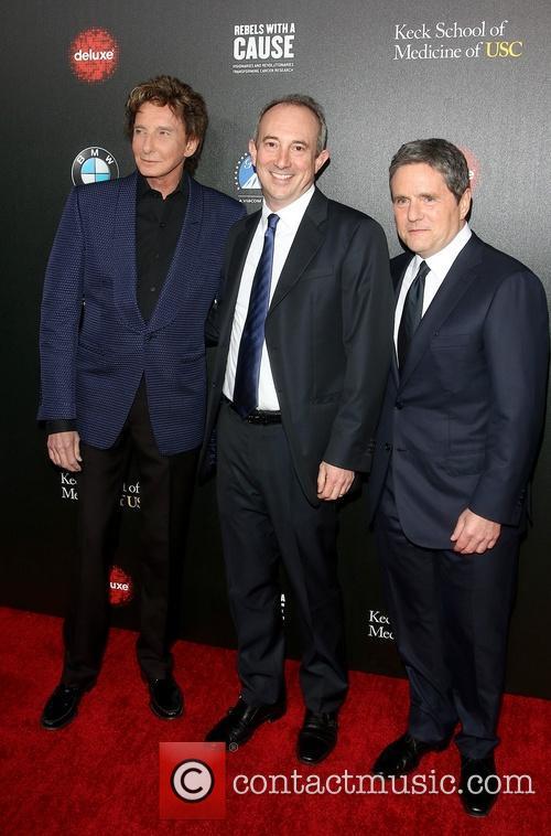 Barry Manilow, Dr. David Agus, Brad Grey, Paramount Pictures Studios