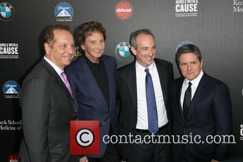 Dr. Carmen Puliafito, Barry Manilow, Dr. David Agus and Brad Grey 2