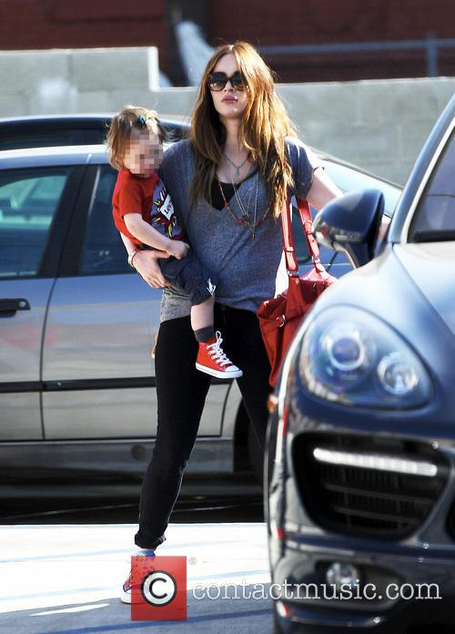 Pregnant Megan Fox carries son Noah
