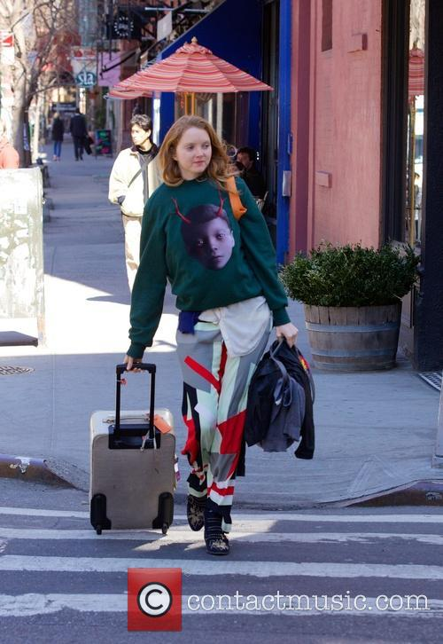 Model Lily Cole seen in Nolita