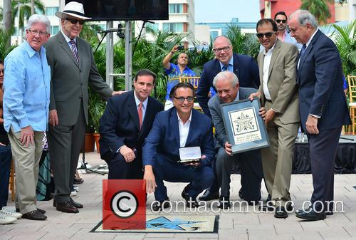 William Talbert Iii, Monty Trainer, Francis Suarez, Andy Garcia, City Of Miami Mayor Tomas Regalado and Guest 2