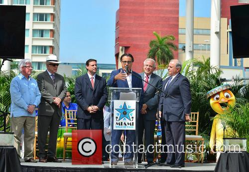 William Talbert Iii, Monty Trainer, Francis Suarez, Andy Garcia, City Of Miami Mayor Tomas Regalado and Guest 1
