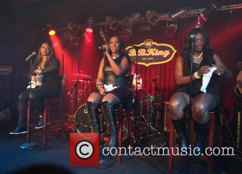SWV perform in Times Square