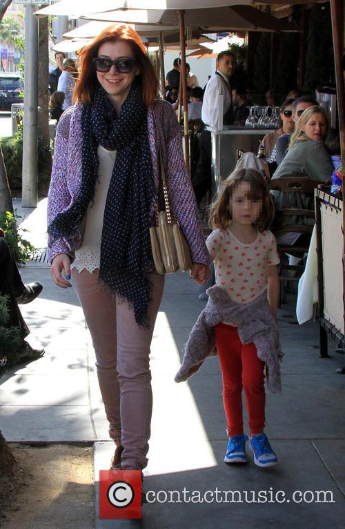 Alyson Hannigan and Satyana Marie Denisof 14