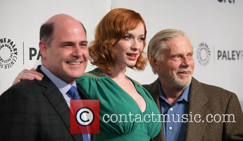 Matthew Weiner, Christina Hendricks and Robert Morse 3