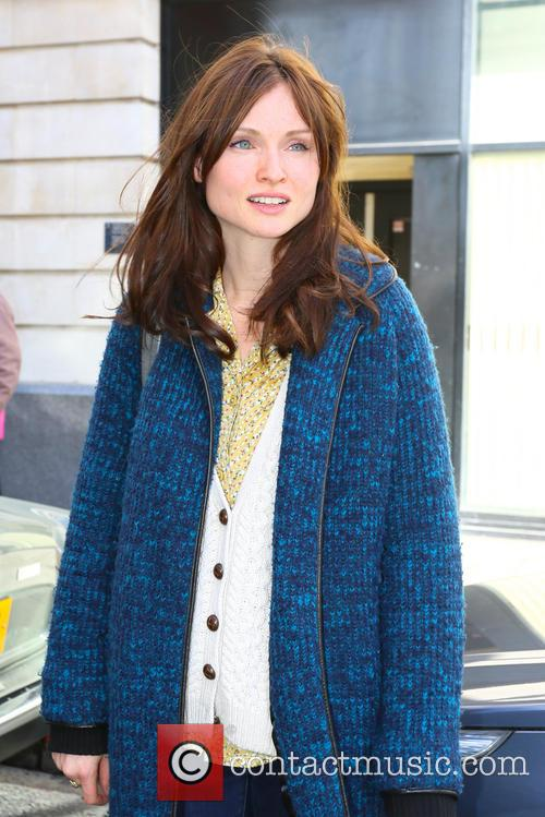 Sophie Ellis-Bextor leaving the BBC Radio 2 studios