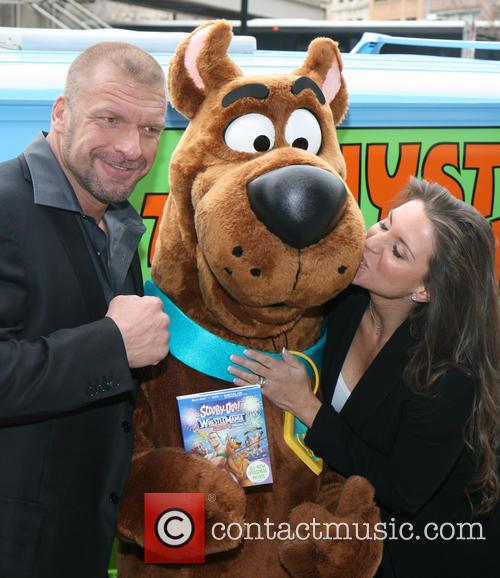 Triple H, Scooby Doo, Stephanie Mcmahon and Paul Michael Levesque 4