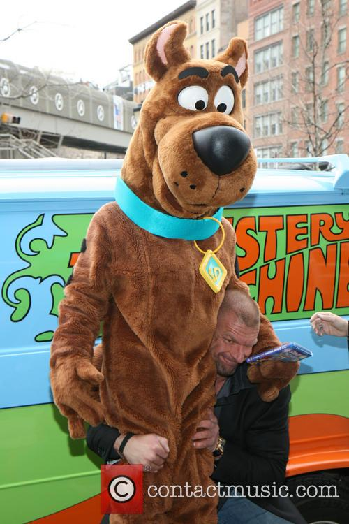 Triple H, Scooby Doo, Stephanie Mcmahon and Paul Michael Levesque 5