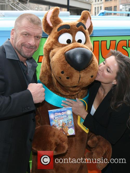 Triple H, Scooby Doo, Stephanie Mcmahon and Paul Michael Levesque 6