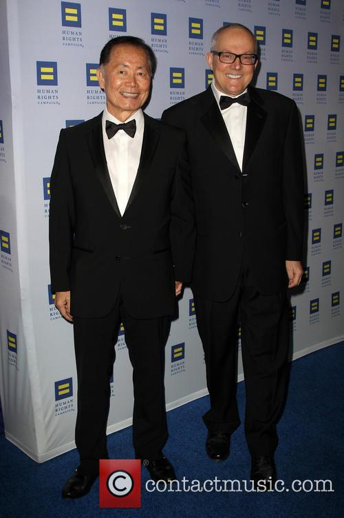 George Takei, Brad Altman, JW Marriott Los Angeles at L.A. LIVE