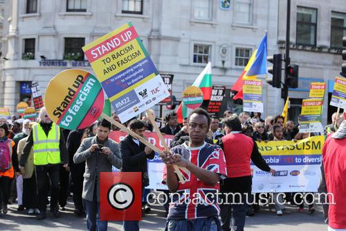 Large March By Trade Unionists and Uaf To Protest Racism 4