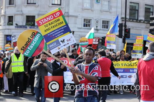 Large March By Trade Unionists and Uaf To Protest Racism 5