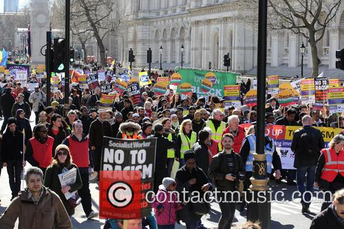 Large March By Trade Unionists and Uaf To Protest Racism 6