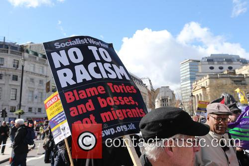 Large March By Trade Unionists and Uaf To Protest Racism 7