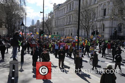 Large March By Trade Unionists and Uaf To Protest Racism 8