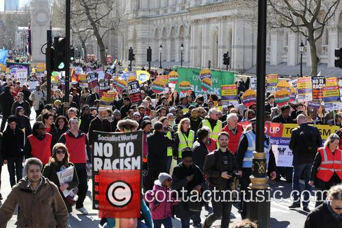 Large March By Trade Unionists and Uaf To Protest Racism 9