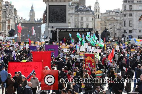 Large March By Trade Unionists and Uaf To Protest Racism 10