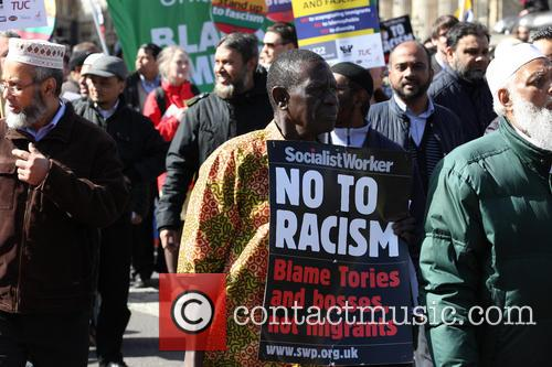 Large March By Trade Unionists and Uaf To Protest Racism 1