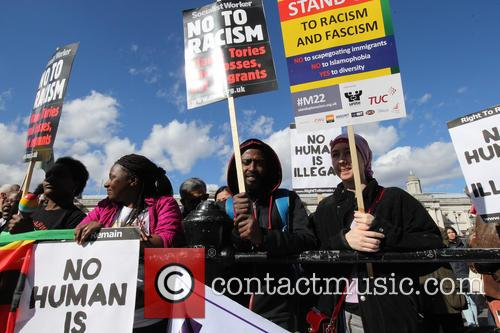 Large March In London By Trade Unionists and Uaf To Protest Racism. 2