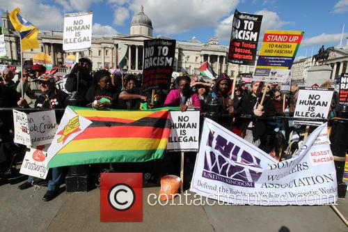 Large March In London By Trade Unionists and Uaf To Protest Racism. 5