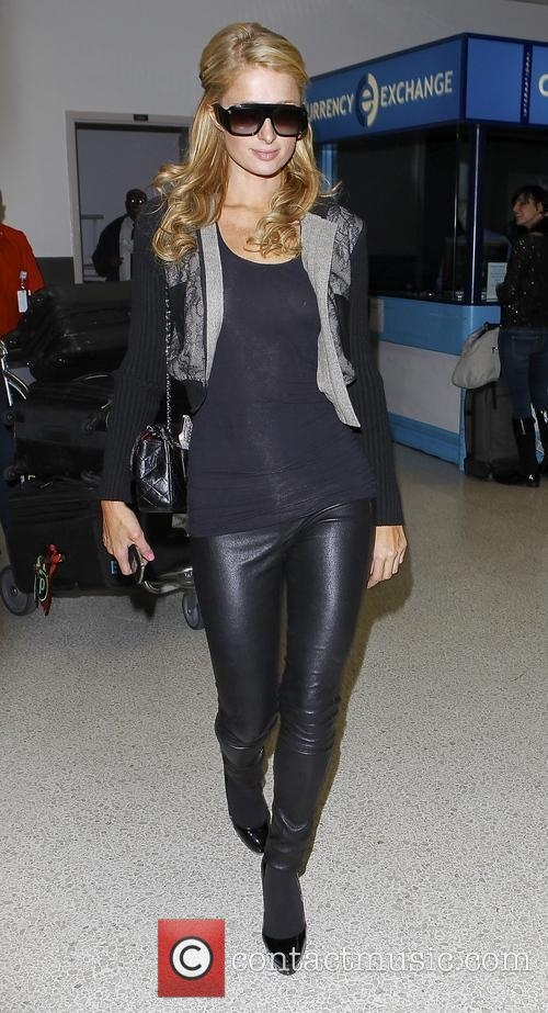 Paris Hilton arrives at Los Angeles International (LAX) airport
