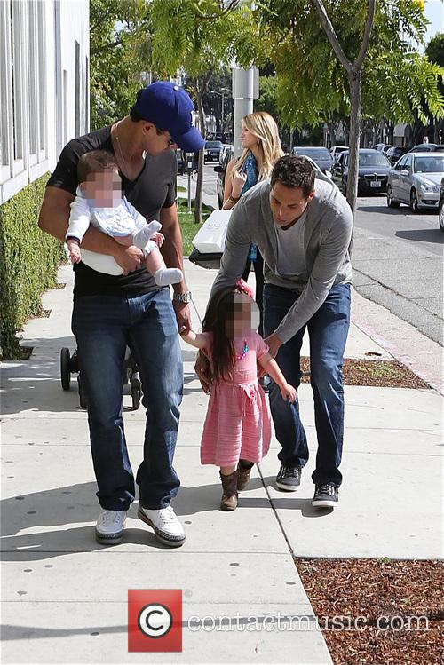 Mario Lopez, Joe Francis, Gia Lopez and Dominic Lopez 2