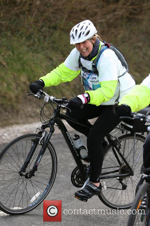 Fern Britton Undertakes The Chilterns Cycle Challenge 2