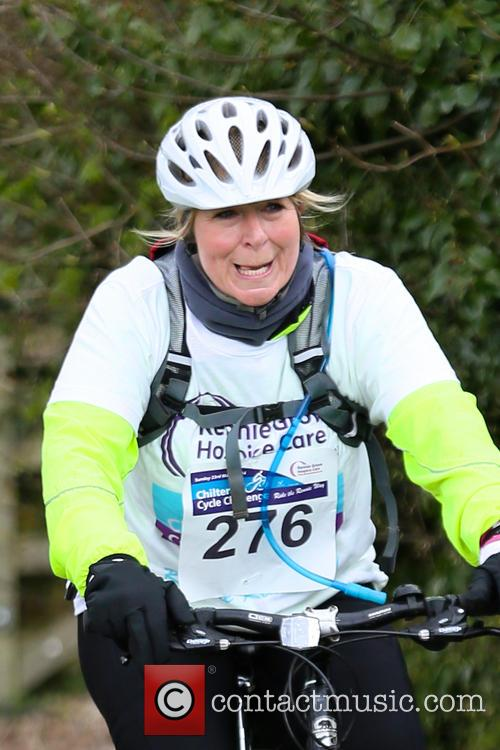 Fern Britton Undertakes The Chilterns Cycle Challenge 11