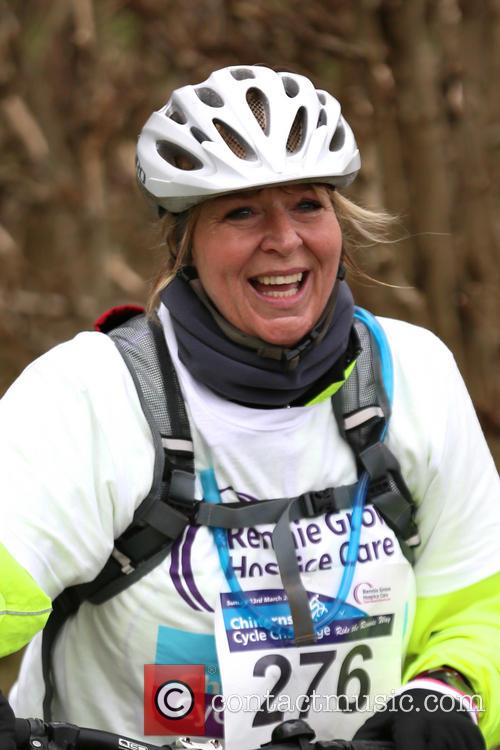 Fern Britton Undertakes The Chilterns Cycle Challenge 1