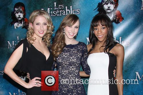 caissie levy samantha hill nikki m james opening night 4123332
