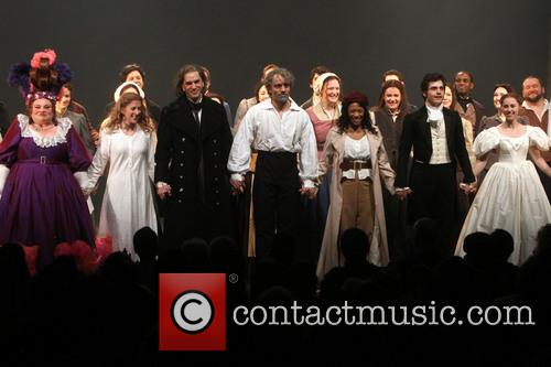 Settle, Caissie Levy, Will Swenson, Ramin Karimloo, Nikki M. James, Andy Mientus, Samantha Hill and Les Miserables 5