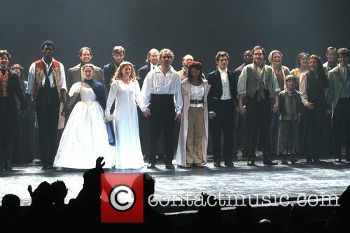 Samantha Hill, Caissie Levy, Ramin Karimloo, Nikki M. James, Andy Mientus and Cast 2