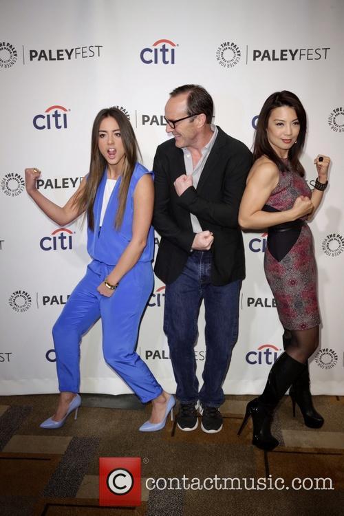 Chloe Bennet, Clark Gregg and Ming-na Wen 3