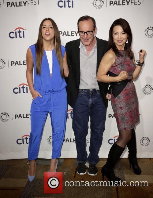 Chloe Bennet, Clark Gregg and Ming-na Wen 8