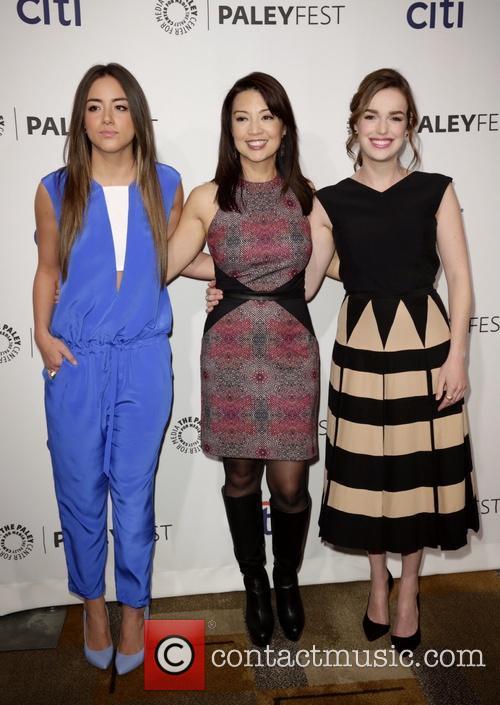 Chloe Bennet, Ming-na Wen and Elizabeth Henstridge 5