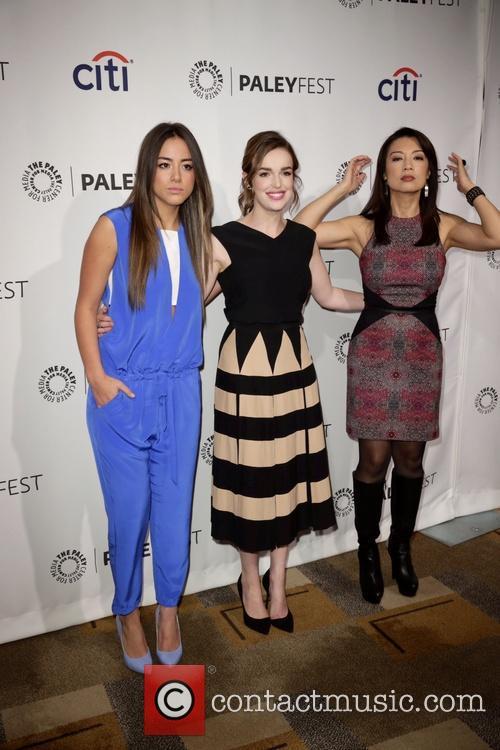 Chloe Bennet, Ming-na Wen and Elizabeth Henstridge 11