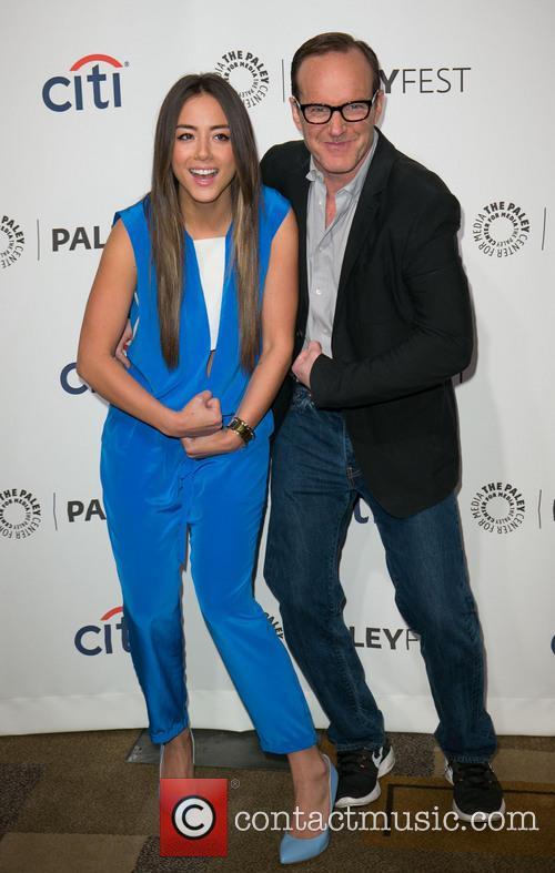 Chloe Bennet and Clark Gregg 4