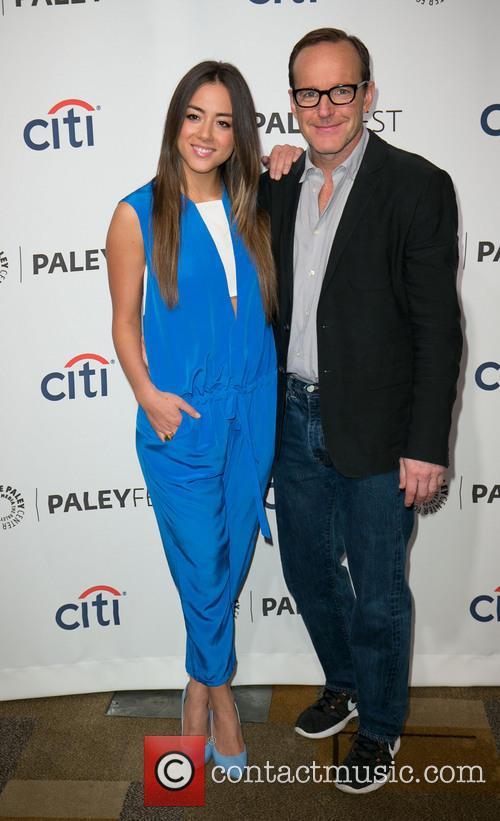 Chloe Bennet and Clark Gregg 5