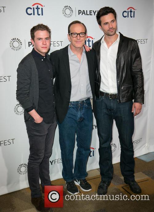 Iain De Caestecker, Clark Gregg and Brett Dalton 3
